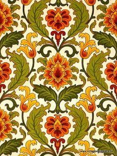 jamaica byles: Vintage Wallpapers Sunflower scheme....love it