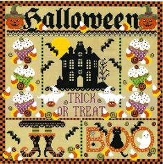Monthly Calendars, Folk Embroidery, Breast Cancer Survivor, Counted Cross Stitch Patterns, Stitch Design, Four Seasons, Beautiful Patterns, Fall Halloween, Free Pattern