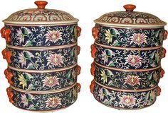 Stacking Ceramic Boxes, Pair on OneKingsLane.com