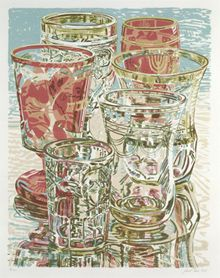 Museum Glass, Janet Fish. Lithograph on paper