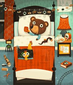 Steve Simpson's #illustration work for children's books is really cute! #art