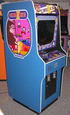 Donkey Kong II arcade cabinet