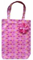 Pink Hearts Print Shopping Bag