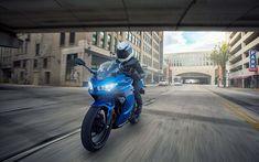 Download wallpapers 4k, Kawasaki Ninja 400, road, 2018 bikes, street, sportbikes, rider, Kawasaki