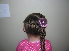 rope braids - good for school... takes a little longer, but if I have 15 minutes... i'm good
