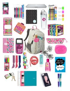 """""""inside my book bag! sorry I like making these!"""" by ceahannahgrace ❤ liked on Polyvore featuring Patagonia, Paper Mate, Lilly Pulitzer, Jonathan Adler, Smathers & Branson, Tervis, Sharpie, Avery, Emi-Jay and Urbanears"""