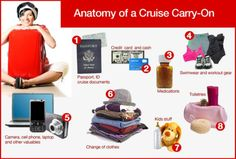 11 Clever Cruise Hacks Seen on Pinterest: What to pack in your cruise carry-on bag #cruise #packingtips