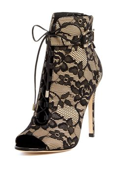 Lace Bootie / Brian Atwood #brianatwoodheelslouboutinshoes #brianatwoodheelsbeautiful