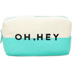 Forever 21 Oh, Hey Makeup Pouch (£4.81) ❤ liked on Polyvore featuring beauty products, beauty accessories, bags & cases, bags, accessories, beauty, makeup, clutches, fillers and forever 21