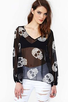 Skull collection from Nasty Gal 1