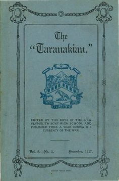 1917 The Taranakian, Vol. 6, No. 2 December