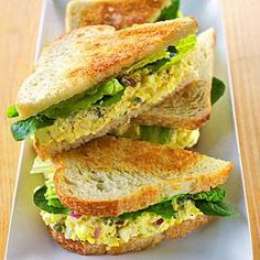 Chef Justin Brunson, of Masterpiece Delicatessen in Denver, drew on the classic pairing of truffles and eggs as his inspiration for this egg salad. He serves it between two slices of white bread (toasted on the outside with olive oil and butter) and a piece of crisp romaine lettuce.