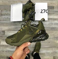 Nike air max 270 olive green and khaki - Shoes 01 Sneakers Mode, Cute Sneakers, Sneakers Fashion, Shoes Sneakers, Nike Air Max, Nike Air Shoes, Nike Heels, Souliers Nike, Fresh Shoes