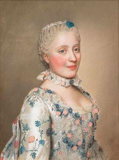Portrait of Marie Josephe van Saksen dauphine van Frankrijk by Jean Etienne Liotard ❤
