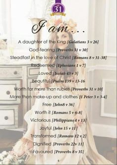- girls can write their own using the words of these verses from their favorite bible translation Gods Princess, Bibel Journal, Proverbs 31 Woman, Proverbs 8, Daughters Of The King, Daughter Of God, Lord And Savior, Godly Woman, Virtuous Woman