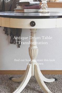Take Drum Table Restyle - Timeless Creations Refurbished Furniture, Paint Furniture, Repurposed Furniture, Furniture Making, Furniture Makeover, Restoring Furniture, Reclaimed Furniture, Furniture Refinishing, Furniture Vintage