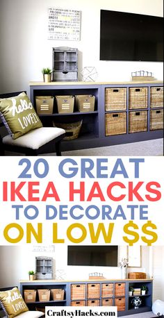 If you're on a low budget, these ikea hacks are just the very best to transform the way your home looks. Decorate on a low budget and have fun using ikea furniture to do that. You are in the right place about ikea hacks closet Here we[. Hackers Ikea, Deco Studio, Ikea Decor, Diy Y Manualidades, Diy Organizer, Budget Planer, Diy Home Decor Bedroom, Bedroom Ideas, Cheap Diy Home Decor
