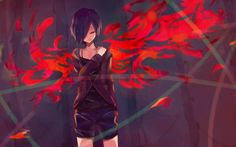 Kagune Kirishima Touka Art Anime Girl High Resolution 1920×1200