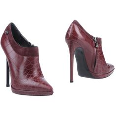 Philipp Plein Shoe Boots (€380) ❤ liked on Polyvore featuring shoes, boots, ankle booties, garnet, crocs boots, stiletto boots, leather booties, stiletto bootie and stiletto ankle boots
