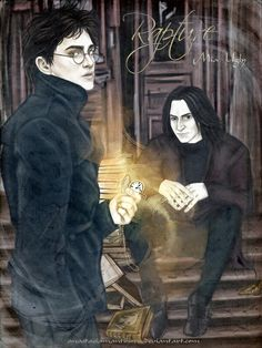 Rapture by AnastasiaMantihora Is this Harry and Snape? Young Harry Potter, Harry Potter Severus Snape, Harry Potter Artwork, Harry Potter Ships, Harry Potter Anime, Harry Potter Fan Art, Harry Potter Memes, Professor Severus Snape, Severus Rogue