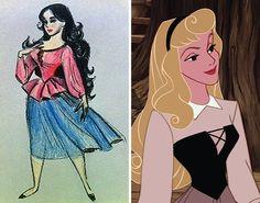Original concept drawings ofDisney characters
