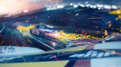 Pitch frames Nascar Sprint Cup Series on Behance race car racing
