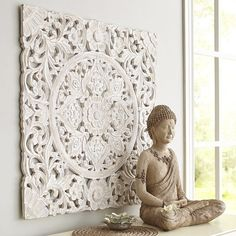 White Carved Wall Decor from Pier 1 imports. Shop more products from Pier 1 imports on Wanelo. Carved Wood Wall Art, Metal Tree Wall Art, Wood Art, Wall Wood, Wall Décor, Mandala Mural, Wall Mirrors Metal, Buddha Kunst, Filigranes Design