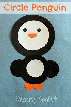 Circle penguin craft from Reading Confetti