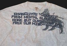 Live Mechanics Emancipate Yourself T-shirt L  New