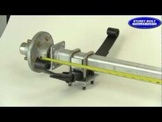 How to Measure an Axle Video from Sturdy Built Trailer Parts Utility Trailer Axles, Trailer Ramps, Welding Trailer, Work Trailer, Diy Camper Trailer, Custom Trailers, Small Trailer, Trailer Plans, Trailer Build