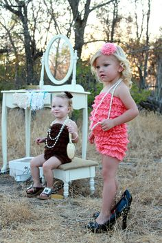 oooh.... using a vanity as a prop for little girls photos