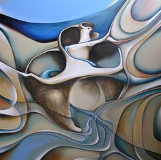 Painting by Amiria Gale ~ shells. I love this abstract painting and the warped shapes. Drawing Projects, Art Projects, Student Art Guide, Natural Form Art, Art Alevel, Ap Studio Art, Painted Shells, Beach Artwork, Ap Art