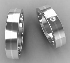 alianzas de oda en oro blanco y diamante | alianzas 100% personalizadas