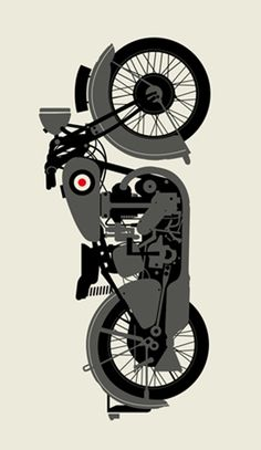 Motorbike vector art, awesome