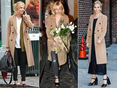 RAG & BONE COAT | It's not just Sienna Miller's cool-girl aesthetic that makes her look so chic (whether in a slouchy tee and jeans or sleek black dress) — it's also her smart tailored camel peacoat. Look for Less: Missguided Double Breasted Tailored Long Wool Coat in Camel, $119; missguidedus.com