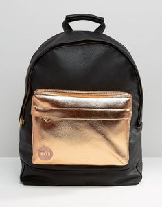 Image 1 of Mi-Pac Exclusive Tumbled Backpack with Rose Gold Pocket