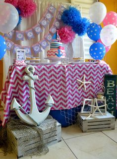 Nautical Birthday Party Ideas | Photo 3 of 20 | Catch My Party
