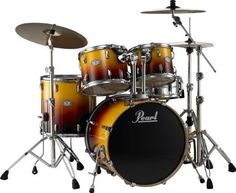 "Pearl Vision VBX 5 Piece New Fusion Shell Pack Harvest Fade by Pearl. $699.99. The Pearl Vision VBX 5-Piece New Fusion Shell Pack includes a 22"" x 18"" kick, 10"" x 8"" and 12"" x 9"" rack toms, 16"" x 16"" floor tom, and a 14"" x 5-1/2"" snare drum.Pearl Vision Series drums represent Pearl's continued commitment to delivering more professional features while maintaining an affordable price. This is Pearl's most affordable 100% Birch drum set. Birch has long been recognized for its ..."