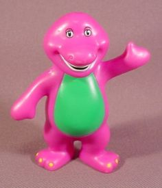 Barney the Purple Dinosaur PVC figure figurine 3 Tall 1996 Toddler Preschool, Toddler Toys, Dinosaur Toys, Dinosaur Stuffed Animal, Barney Costume, Barney The Dinosaurs, Reds Bbq, Barney & Friends, Bbq Apron