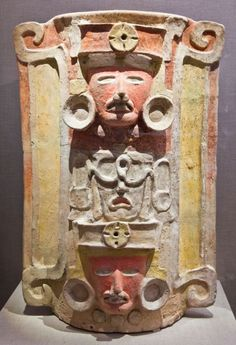 Ceremonial stand for a censer.  A.D. 250–550 Guatemala  Early Classic Maya   Earthenware, paint
