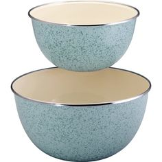 Paula Deen Signature Enamel on Steel 2-Piece Mixing Bowl Set – Blue « Blast Groceries