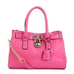 Cheap Michael Kors Hamilton Medium Pink Totes Clearance