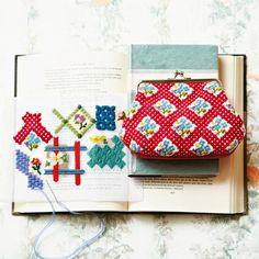 暮らしを彩るフラワーガーデン テキスタイルデザイン気分で遊ぶニードルポイントプチバッグの会(6回限定コレクション)