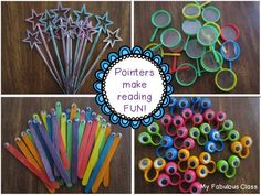 Look how fun these pointers are for guided reading!