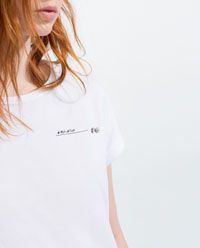 Immagine 6 di MAGLIETTA APPLICAZIONE FLOREALE di Zara