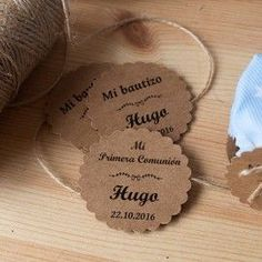 Detalles de Comunion Artesanales - Etiqueta Galleta Kraft Comunion Catholic Crafts, Canning Labels, First Communion, Holidays And Events, Baby Boy Shower, Diy Gifts, Packaging, Tags, Party