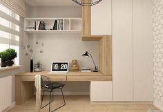 37 Minimalist Home Offices That Sport Simple But Stylish Workspaces – Modern Home Office Design Modern Home Offices, Modern Office Design, Office Interior Design, Office Interiors, Modern House Design, Office Designs, Loft Design, Design Design, Design Elements