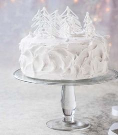 Step-by-step winter wonderland cake