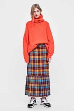 Zara Australia, Maje, Plaid Skirts, Tartan Plaid, Modern Fashion, Fasion, Work Wear, Personal Style, Winter Fashion