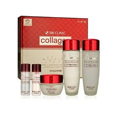 DoDo 3W Clinic Collagen Skincare System set (Softener, Emulsion, Cream) #3WClinic #333korea #skincare #beauty #koreacosmetics #cosmetics #oppacosmetics #cosmetic #koreancosmetics